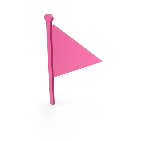 Flag Pink Symbol PNG & PSD Images