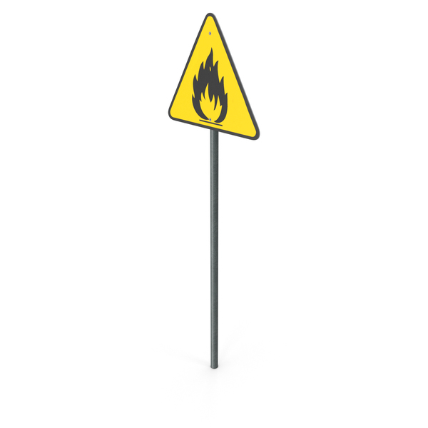 Flammable Hazard Sign PNG & PSD Images