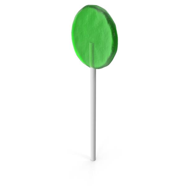 Flat Lollipop Green PNG & PSD Images