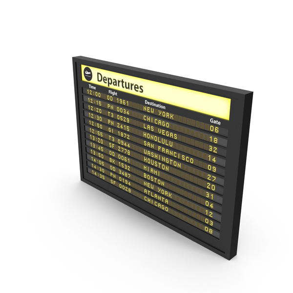 Airport Timetable: Flight Board PNG & PSD Images