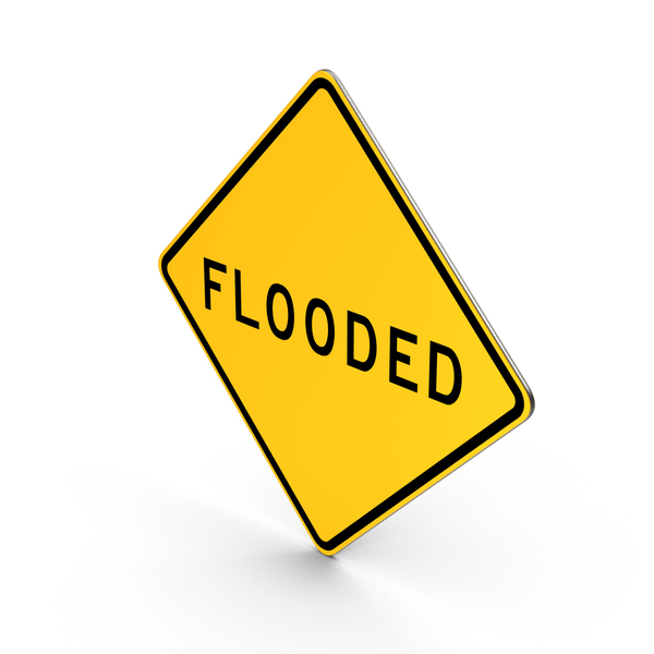 Flooded California Road Sign PNG & PSD Images