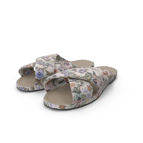 Floral Fabric Shoes PNG & PSD Images