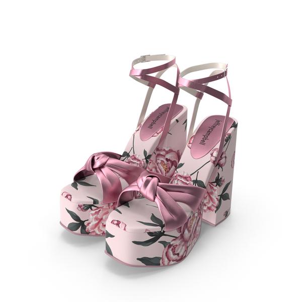 Floral Knot Platform Sandals PNG & PSD Images