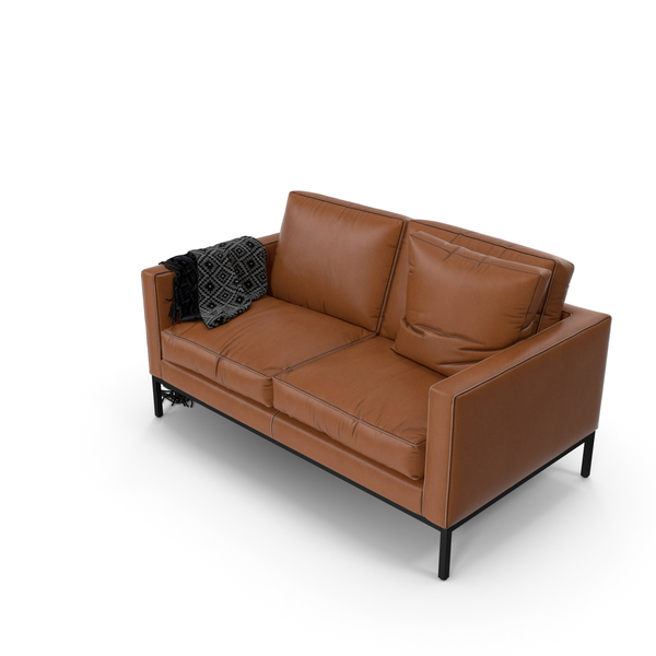 Leather Sofa: Florence Knoll Relax PNG & PSD Images