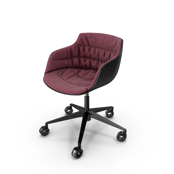 Flow Slim Chair Claret Red PNG & PSD Images