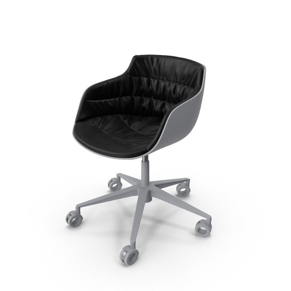 Flow Slim Chair White Black PNG & PSD Images