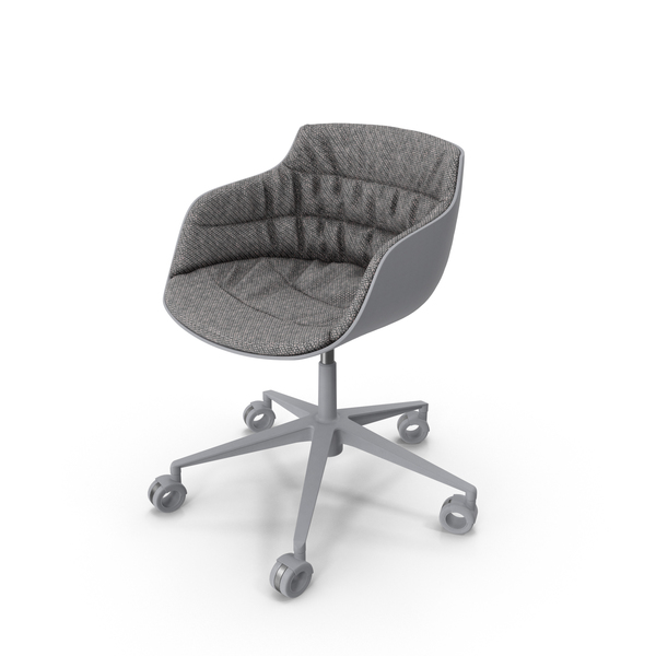 Flow Slim Chair White Fabric PNG & PSD Images