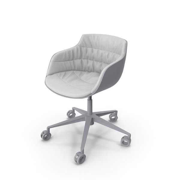 Flow Slim Chair White PNG & PSD Images
