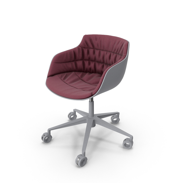 Flow Slim Chair White Red PNG & PSD Images