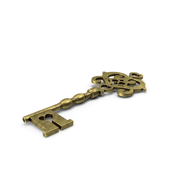 Flower Key Gold PNG & PSD Images