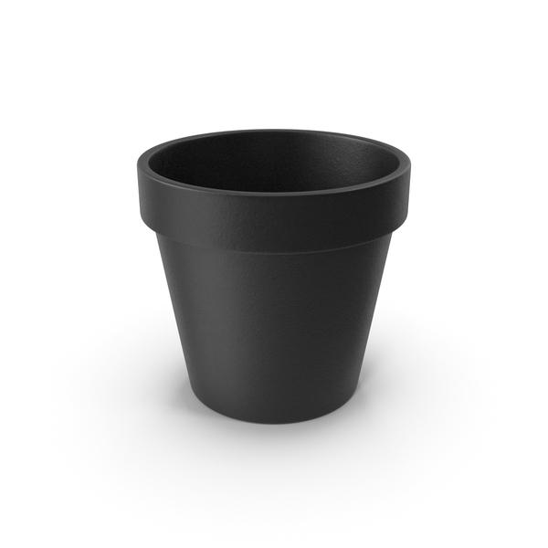Flower Pot Black PNG & PSD Images