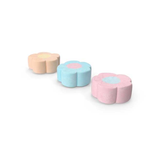 Marshmallow: Flower Shaped Marshmallows PNG & PSD Images