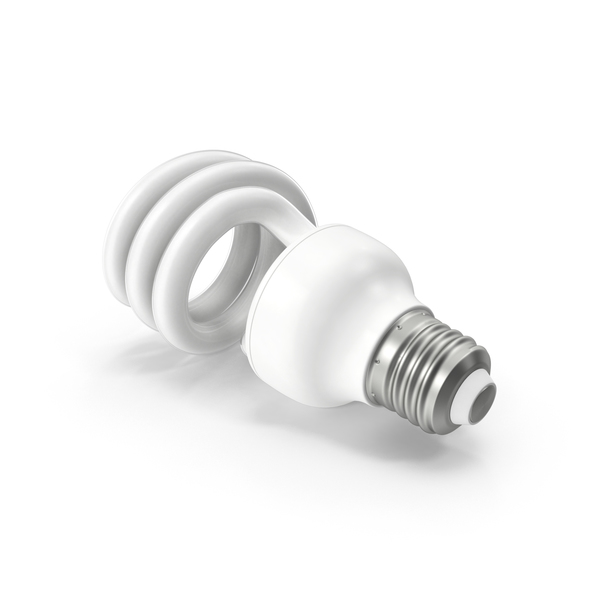 Fluorescent Bulb Spiral PNG & PSD Images