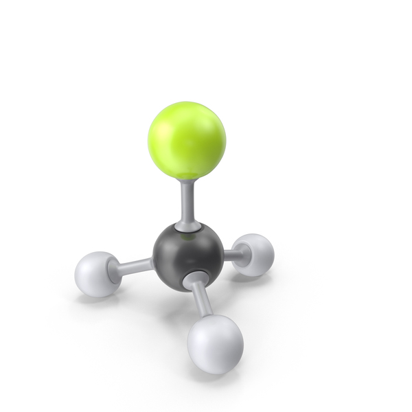 Fluoromethane Molecule PNG & PSD Images