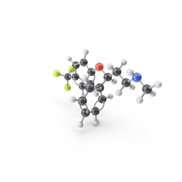 Fluoxetine Molecule PNG & PSD Images