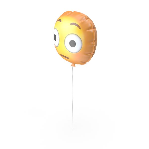 Flushed Emoji Balloon PNG & PSD Images