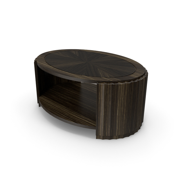 Fluted Coffee Table PNG & PSD Images