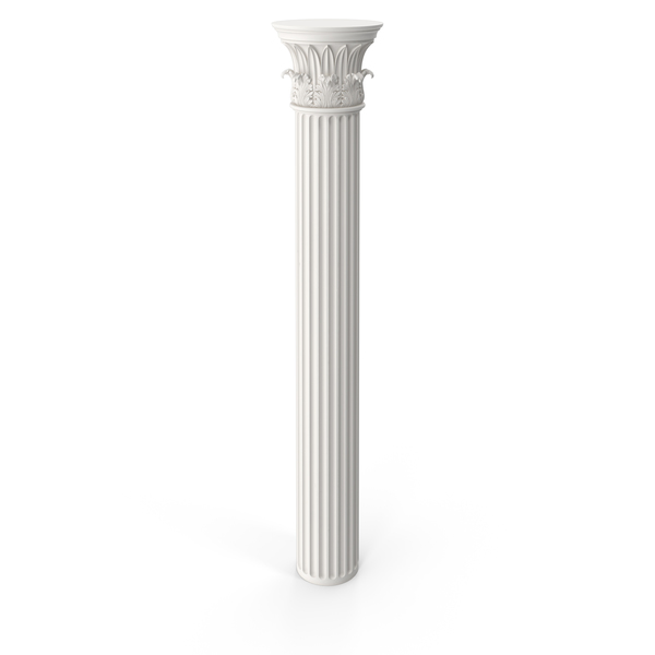 Fluted Temple of the Winds Column PNG & PSD Images