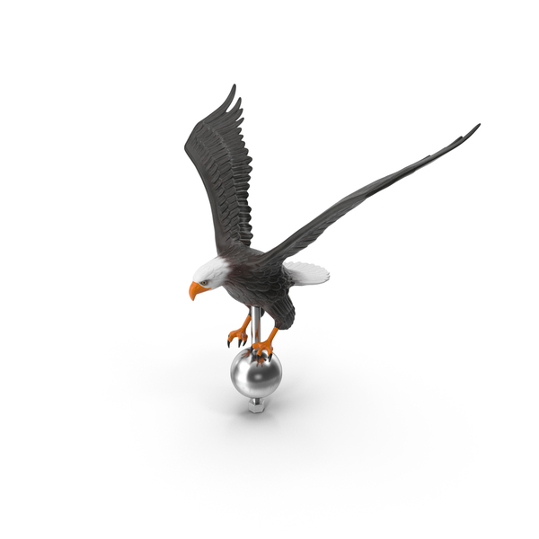 Flying Eagle Flagpole Topper PNG & PSD Images