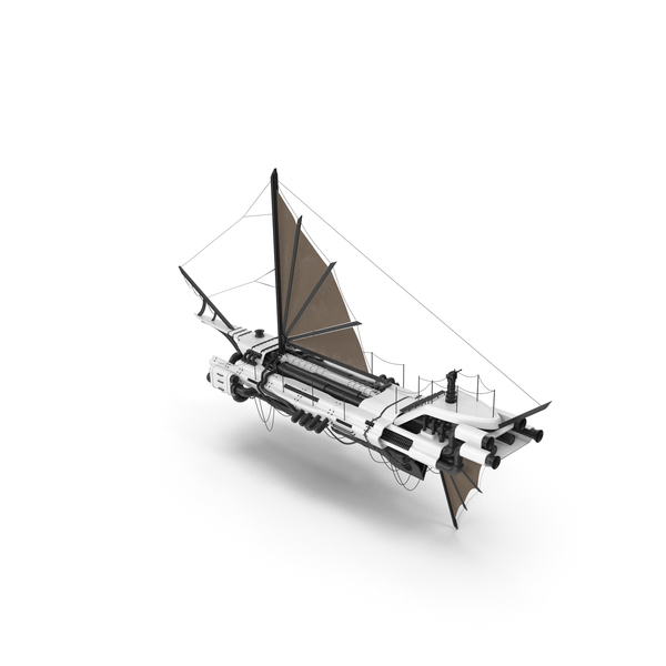 Flying Ship White PNG & PSD Images