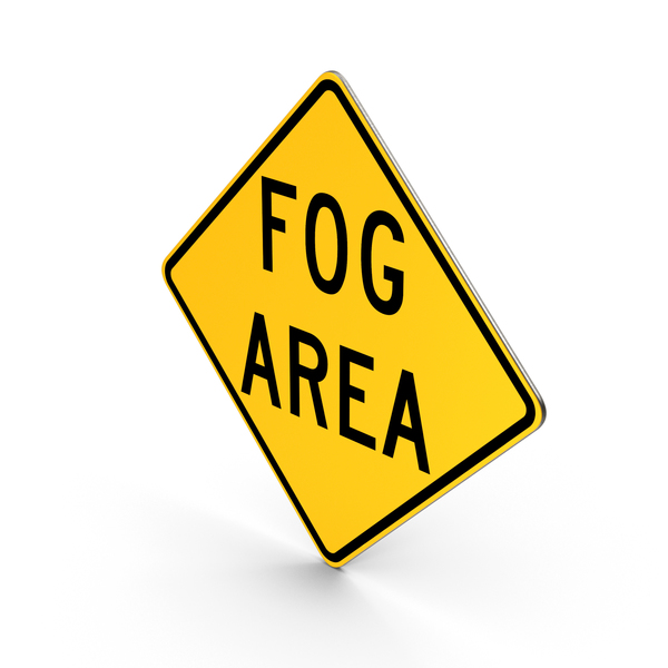 Fog Area Ohio Road Sign PNG & PSD Images