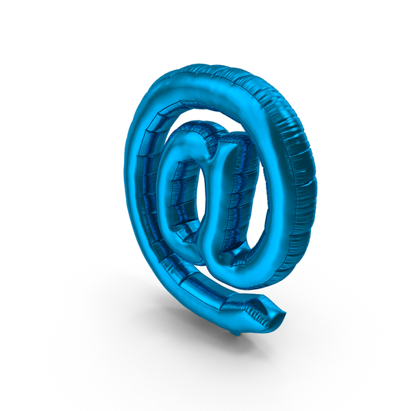Symbol: Foil Balloon At Sign Blue PNG & PSD Images