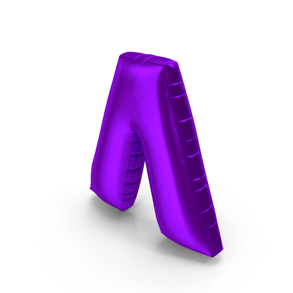 Foil Balloon Circumflex Purple PNG & PSD Images