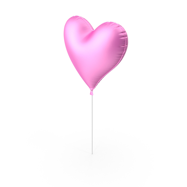 Valentine's Balloons: Foil Balloon Heart PNG & PSD Images