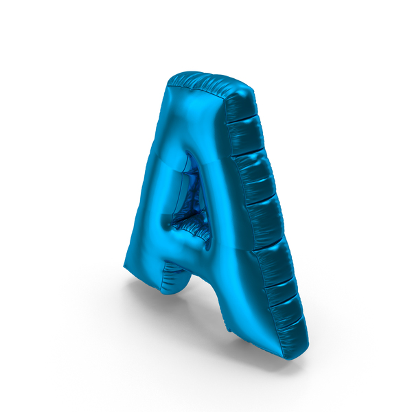 Foil Balloon Letter A PNG & PSD Images