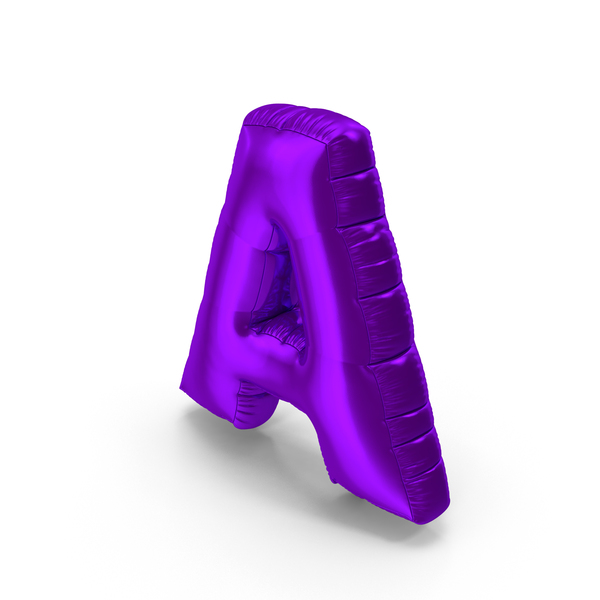 Foil Balloon Letter A Purple PNG & PSD Images