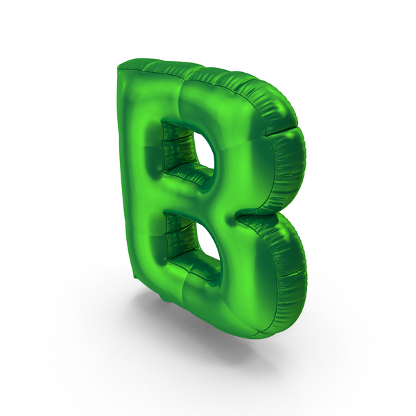 Foil Balloon Letter B PNG & PSD Images