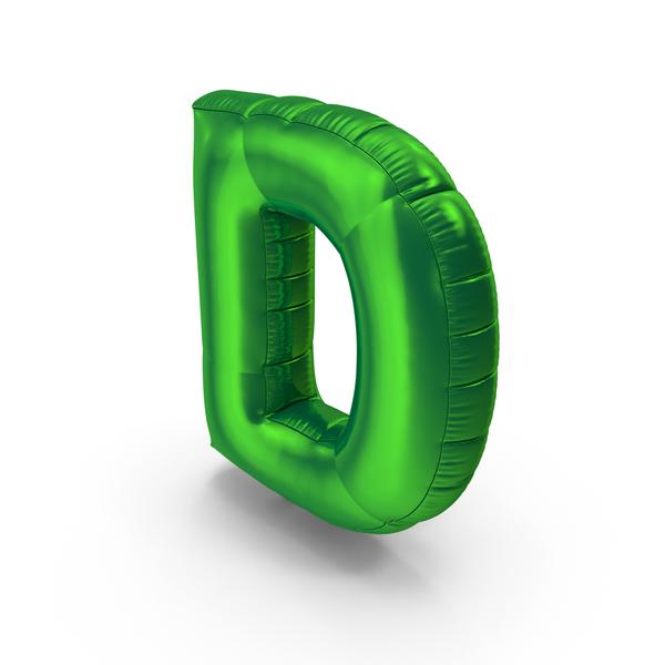 Foil Balloon Letter D PNG & PSD Images