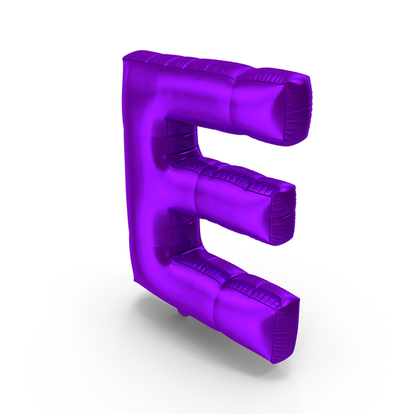 Foil Balloon Letter E Purple PNG & PSD Images