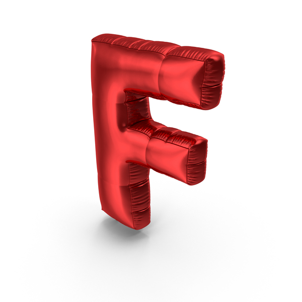Foil Balloon Letter F PNG & PSD Images
