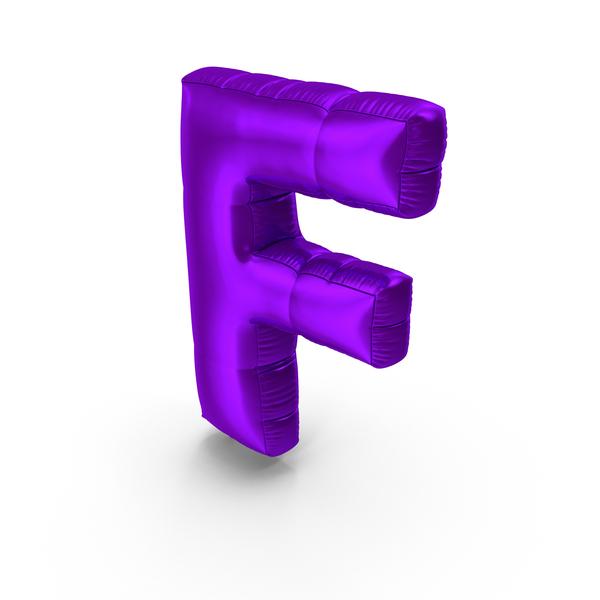 Foil Balloon Letter F Purple PNG & PSD Images