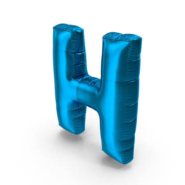 Foil Balloon Letter H PNG & PSD Images