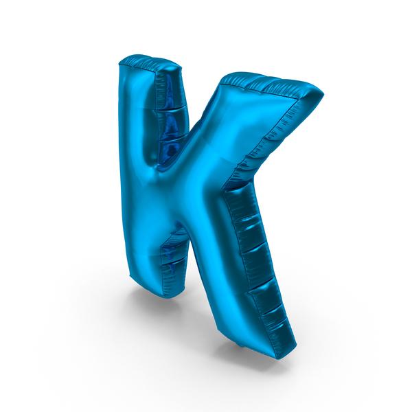 Foil Balloon Letter K PNG & PSD Images