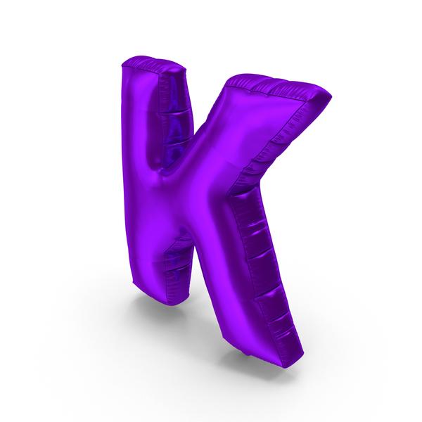 Foil Balloon Letter K Purple PNG & PSD Images