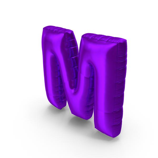 Foil Balloon Letter M Purple PNG & PSD Images