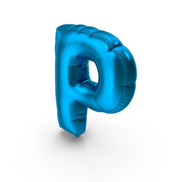 Foil Balloon Letter P PNG & PSD Images