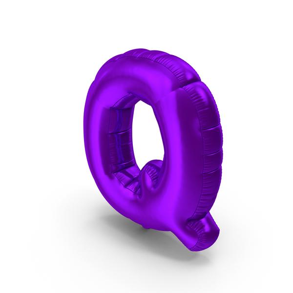 Foil Balloon Letter Q Purple PNG & PSD Images