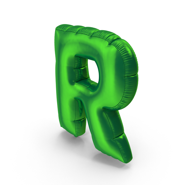Foil Balloon Letter R PNG & PSD Images