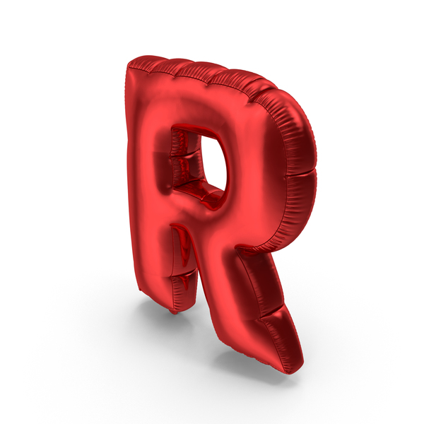 Foil Balloon Letter R PNG & PSD Images