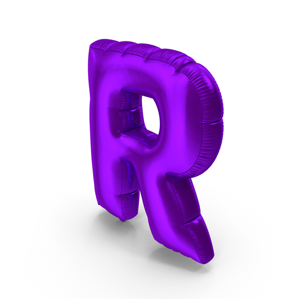 Foil Balloon Letter R Purple PNG & PSD Images
