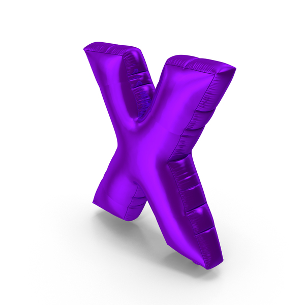 Foil Balloon Letter X PNG & PSD Images