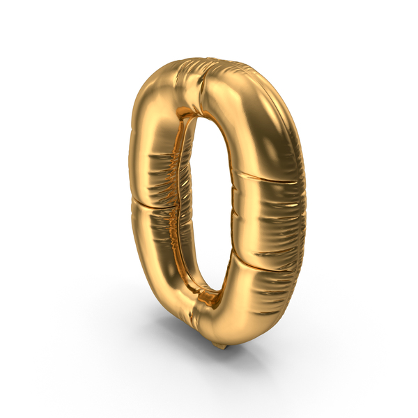 Foil Balloon Number 0 PNG & PSD Images