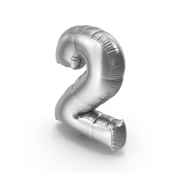 Balloons: Foil Balloon Number 2 PNG & PSD Images