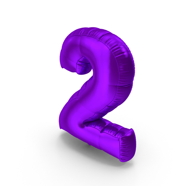 Foil Balloon Number 2 PNG & PSD Images