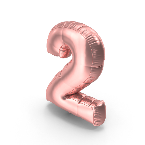 Foil Balloon Number 2 Pink PNG & PSD Images