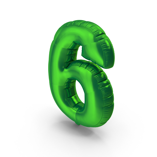 Balloons: Foil Balloon Number 6 PNG & PSD Images
